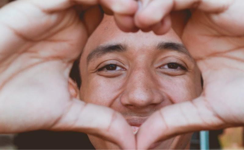 Mensch Hände Herz